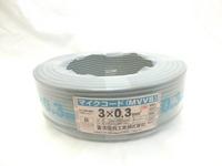 切売り!! マイクロホン用ビニルコード  灰色   MVVS0.3SQ×3C