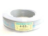 切売り!! マイクロホン用ビニルコード  灰色   MVVS0.5SQ×4C