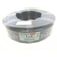 ラバロンプラス VCT 1.25×2c 黒 100m巻 (600V耐熱ビニル絶縁キャブタイヤ丸形ケーブル)