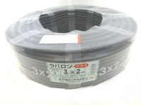 ラバロンプラス VCT 1.25×4c 黒 100m巻  (600V耐熱ビニル絶縁キャブタイヤ丸形ケーブル)
