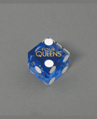 カジノダイス「Four Queens Blue Gold Old Printed Dice」