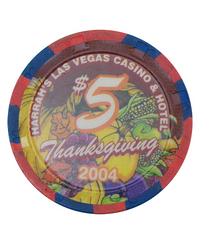 カジノ チップ 「Harrah's Thanksgiving 2004 $5 」
