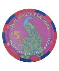 カジノ チップ 「Harrah's  New Years Eve 2005 $5 」